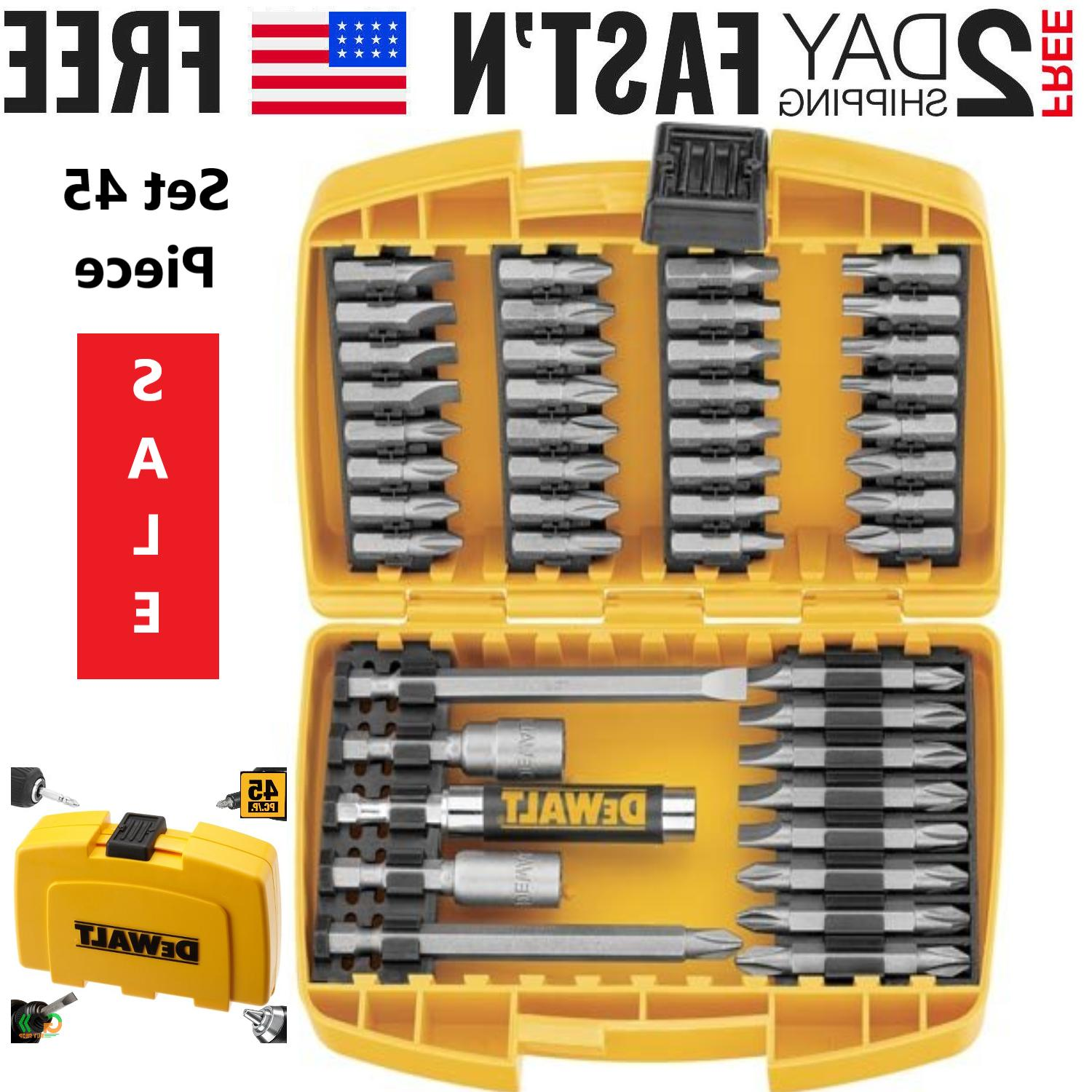 magnetic screwdriver bit set 45 piece impact