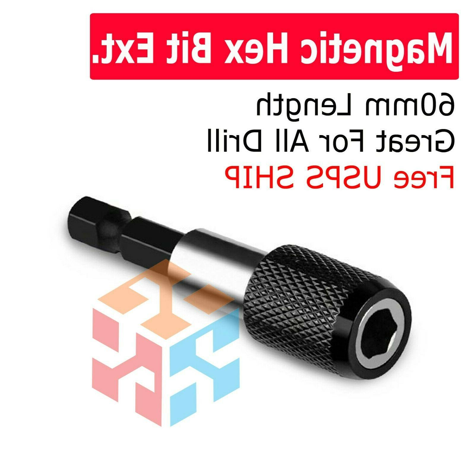 magnetic screwdriver extension quick release 1 4
