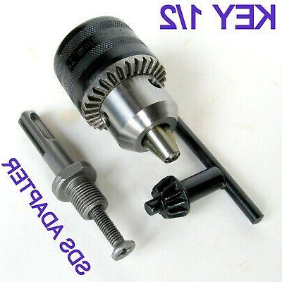 """1 pc SDS Plus Adapter and Key 1/16"""" - 1/2"""" Capacity Drill Ch"""