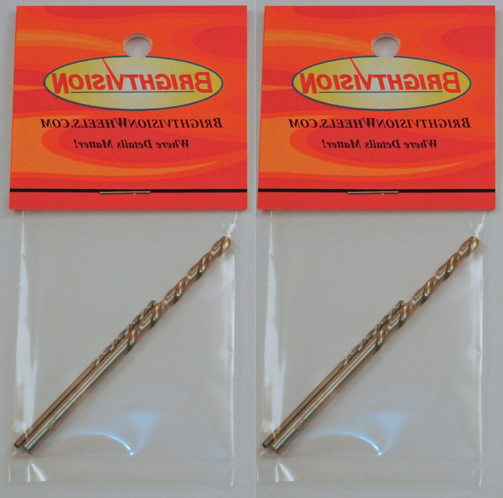 Two Sets of Hot Wheels Rivet Removal Drill Bits For Customs