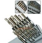 18 PC UNF TAP AND DRILL BIT SET HSS HIGH SPEED STEEL TOOLS w