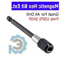 """Magnetic Screwdriver Extension Quick Release 1/4"""" Hex Shank"""