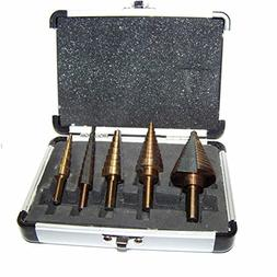 5 Pc Metric Hss With Cobalt Coated Step Drill Bit Tool Mm Si