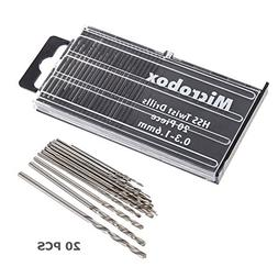 UEB 20x MICROBOX Tiny Micro HSS Twist Drill Bit Set 0.3mm-1.