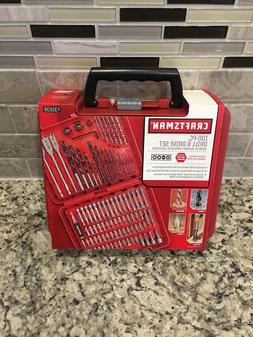 New Craftsman 100-pc Accessory Kit Set Drill Bit Driver Scre