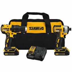 NEW DEWALT 20V MAX DCK277C2 Compact Brushless Drill and Impa