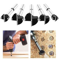 NEW 5pcs Forstner Wood Drill Bit Set Hole Saw Cutter Wood To