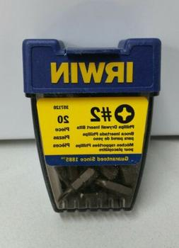 NEW Irwin Industrial  #2 Phillips Insert Bits Box of 20 Dril