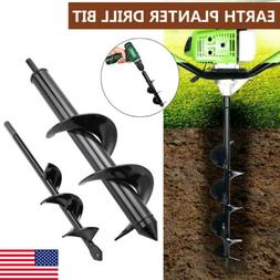 Planting Auger Spiral Hole Drill Bit For Garden Yard Earth B