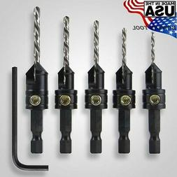 Snappy Quick-Change 5-Pc. Countersink Drill Bit Set