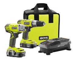 Ryobi 18-Volt ONE+ Drill/Driver and Impact Driver Kit-P1832