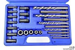Screw Extractor | 25pc Drill & Guide Set Remove Broken Bolts