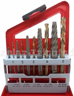 10Pc Screw Extractor RIGHT-HAND Cobalt Drill Bit Set Easy Ou