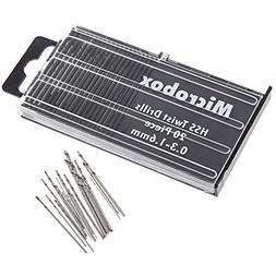 Yakamoz 20Pcs 0.3-1.6mm Shank Mini Micro Drill Bit Set Twist