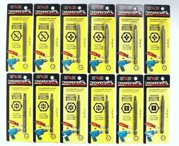 """Picquic Single Screwdriver Individual Carded Bits 3"""" Replace"""