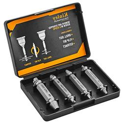 Kinley Stripped Screw Extractor Drill Bits to Easily Remove