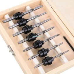 22PCS Tapered Drill & Countersink Bit Screw Set Wood Pilot H
