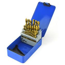 Neiko 29PC Titanium Drill Bit Set | Reduced Shank HSS 1/16""