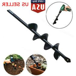 9 inch Spiral Hole Drill Bit Power Garden Auger Planter Post