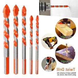 US 5Pcs Multifunction Alloy Twist Drill Bit For Tile Glass C