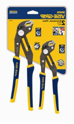 VISE-GRIP GrooveLock Pliers V-Jaw Set 2 Piece 2078709 Essent